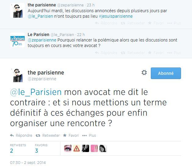 Difficultés de communication entre Le Parisien et The parisienne